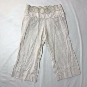 Elevenses Linen Pants Crop